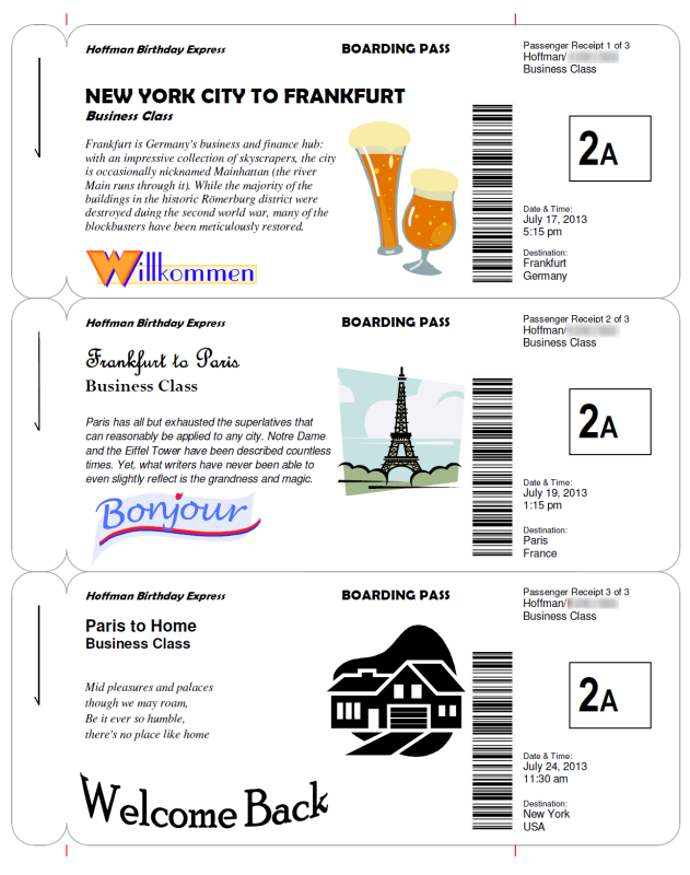 Making Fake Boarding Passes as Gifts Le Chic Geek – Fake Plane Ticket Template
