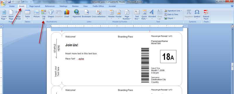 Making Fake Boarding Passes as Gifts Le Chic Geek – Ticket Creator Free