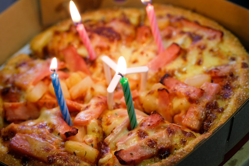 happy birthday pizza